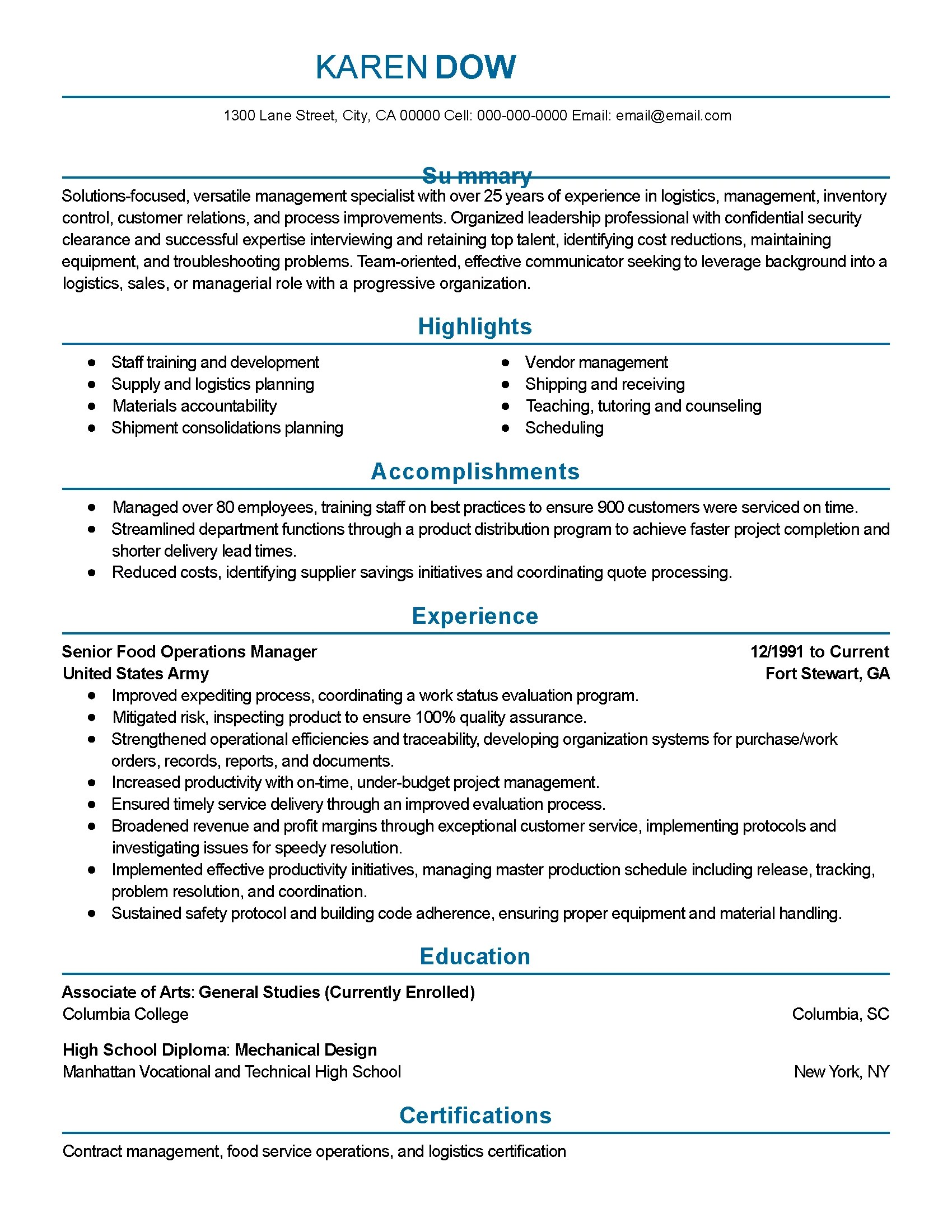 Magnificent Resume Sample For Deck Cadet Apprenticeship ...