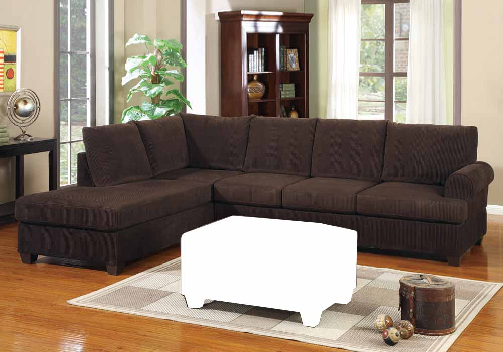 Corduroy Sofa Sectional 2 Pc Modern Reversible Chaise Sectional Sofa Couch