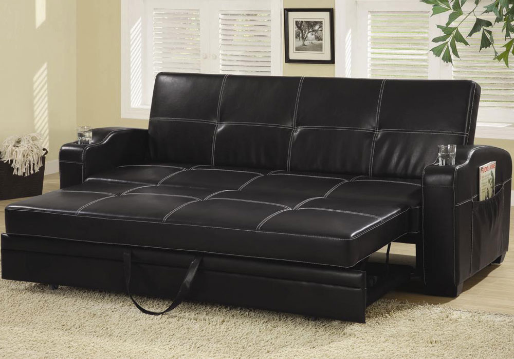 Contemporary Living Room Pull Out Sleeper Sofa Bed Futon - Living Room Sofa Bed