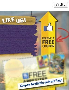 FB coupon with gate following