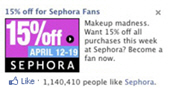sephora fan offer