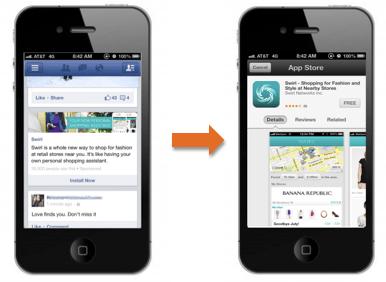 facebook mobile app install