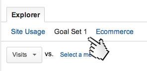 set goals google analytics