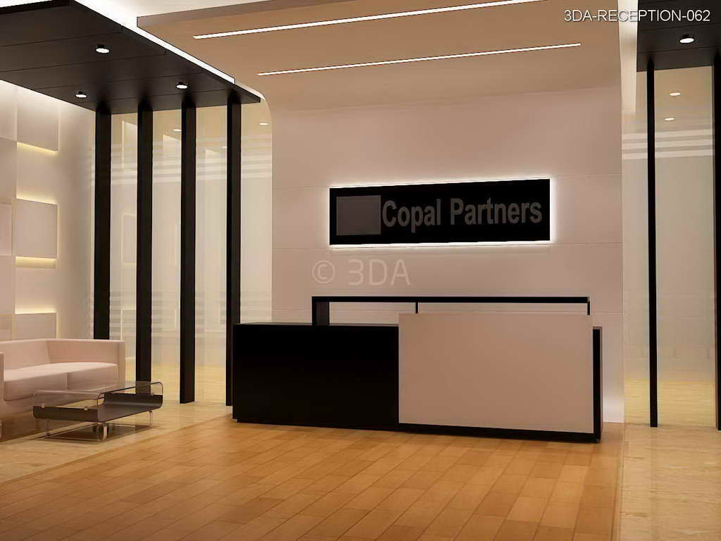 Executive Office Reception Design 3da Office Reception Interior Design