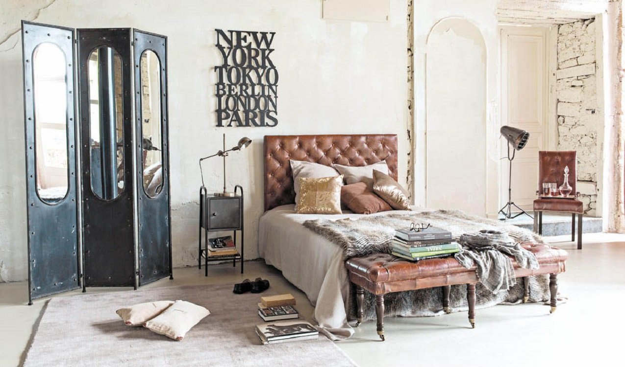 Vintage Industrial Furniture Designs Revive Bedroom Spaces