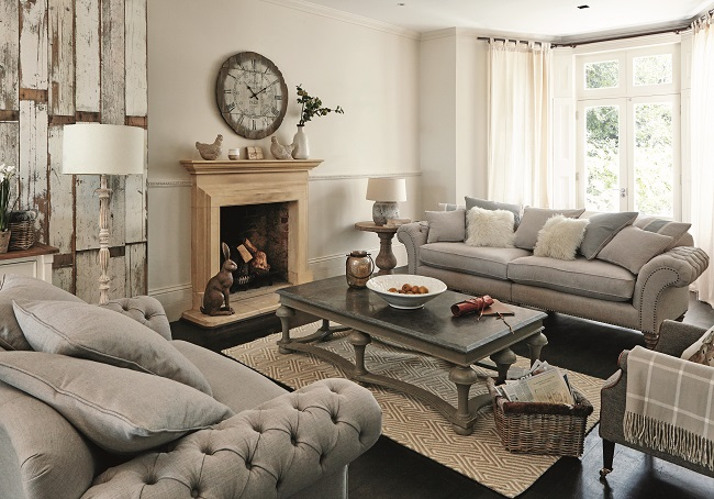living room style ideas, modern country sitting room Homegirl London - modern country living room