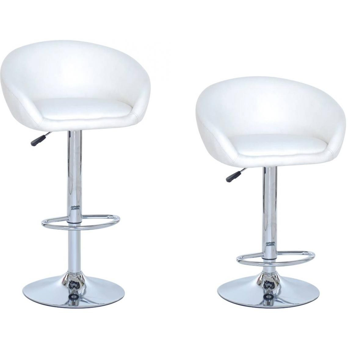 Lot De 2 Tabourets De Bar Pacha Blanc 3 Suisses