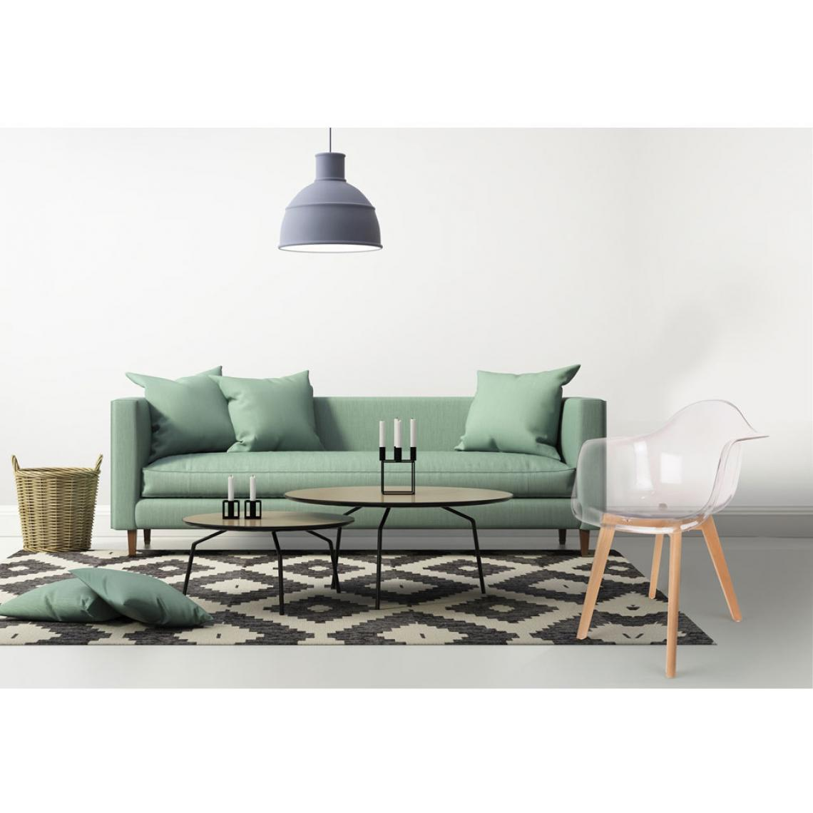 Site Deco Scandinave Chaise Scandinave Avec Accoudoir Transparent Orkney 3 Suisses