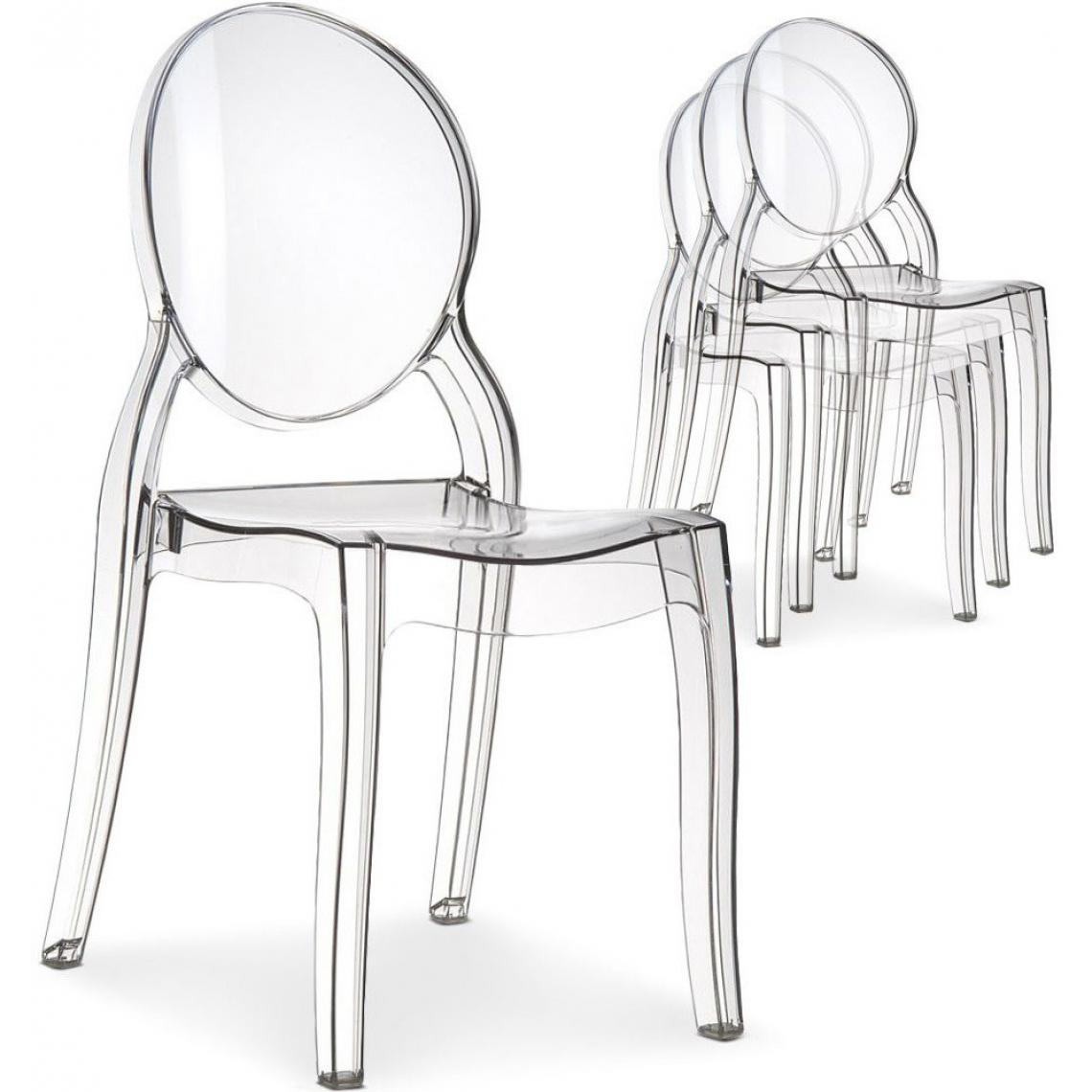 Chaises Transparentes Suisse Lot De 4 Chaises Transparent