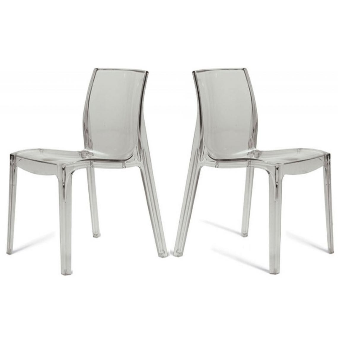 Chaises Transparentes Suisse Lot De 2 Chaises Transparentes Lady 3 Suisses
