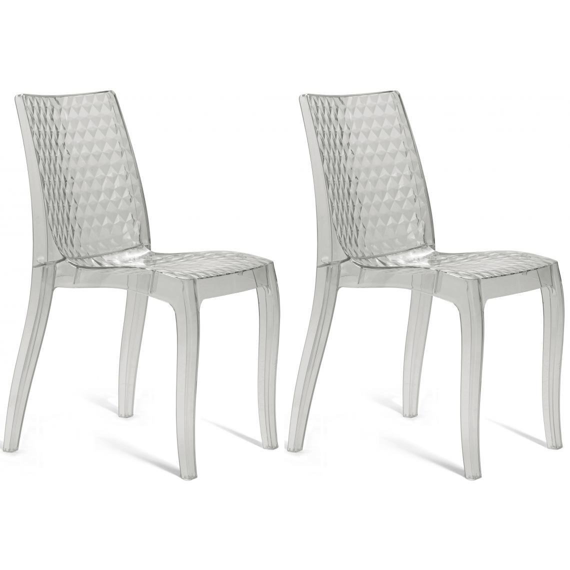 Chaises Transparentes Suisse Lot De 2 Chaises Transparentes Delphes 84x54x45 5
