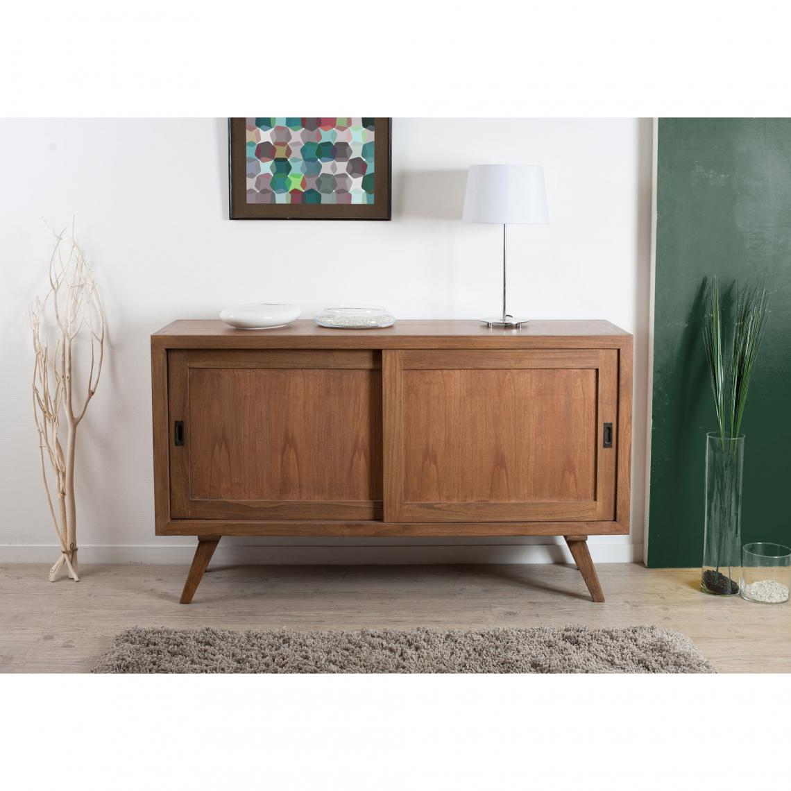 Meuble Portes Coulissantes Buffet 2 Portes Coulissantes Style Scandinave Cannelle 3 Suisses