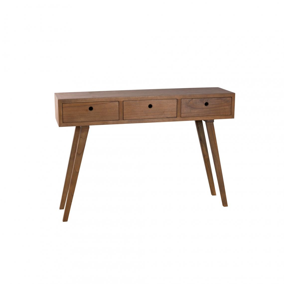 Console 3 Suisses Console 3 Tiroirs Style Scandinave Cannelle 3 Suisses