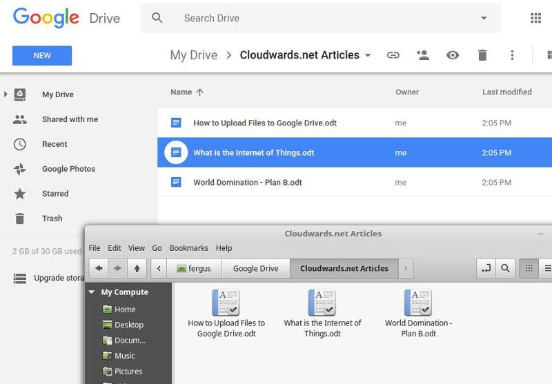 How to Upload to Google Drive - google file system