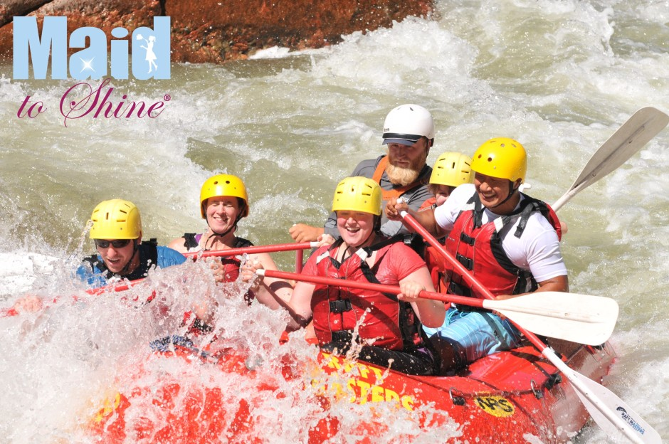 House Cleaning Team White Water Rafting - Maid to Shine Your Best