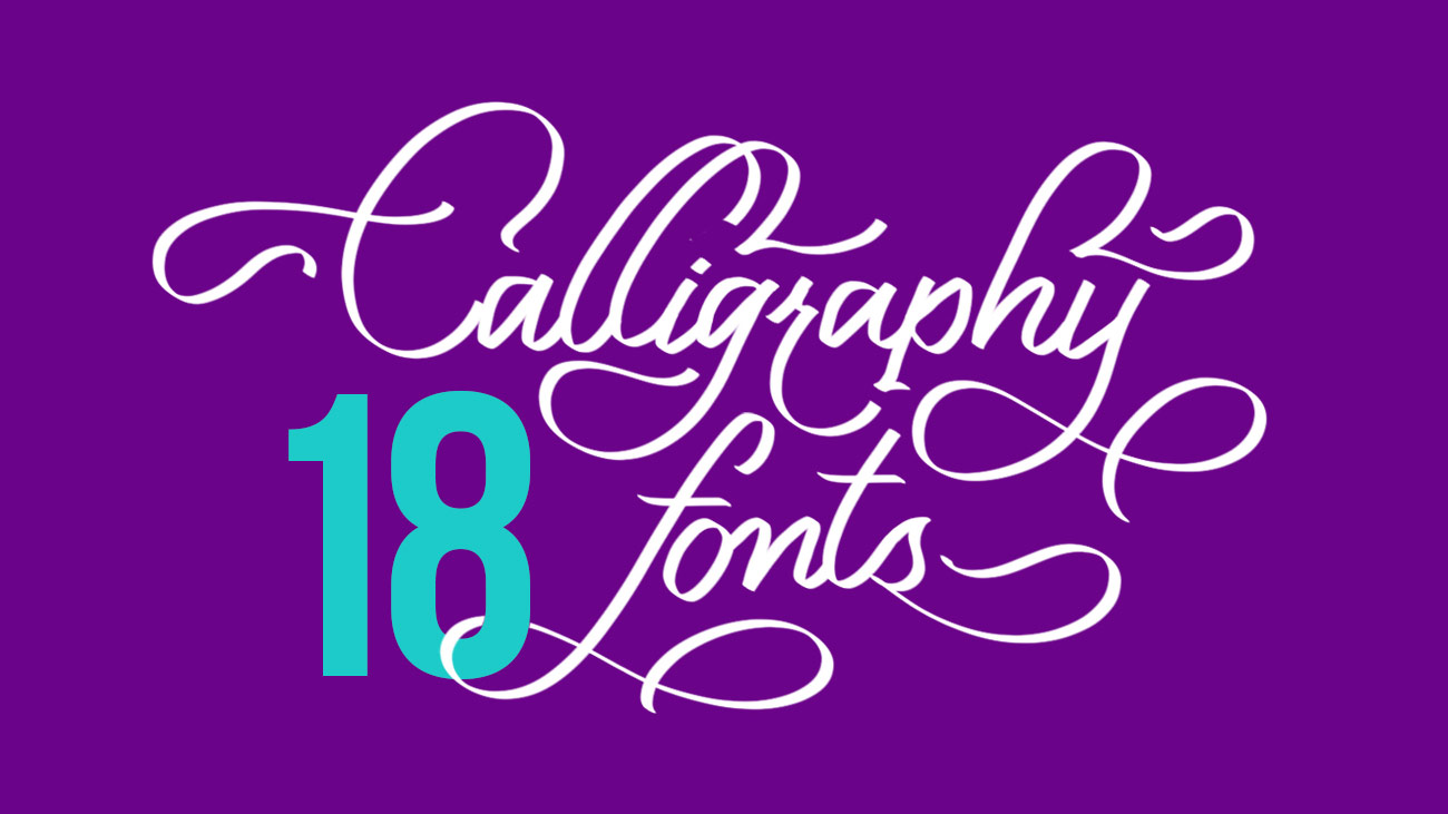 18 Free Calligraphy Fonts To Fancy Up Your Designs Creative Gaga