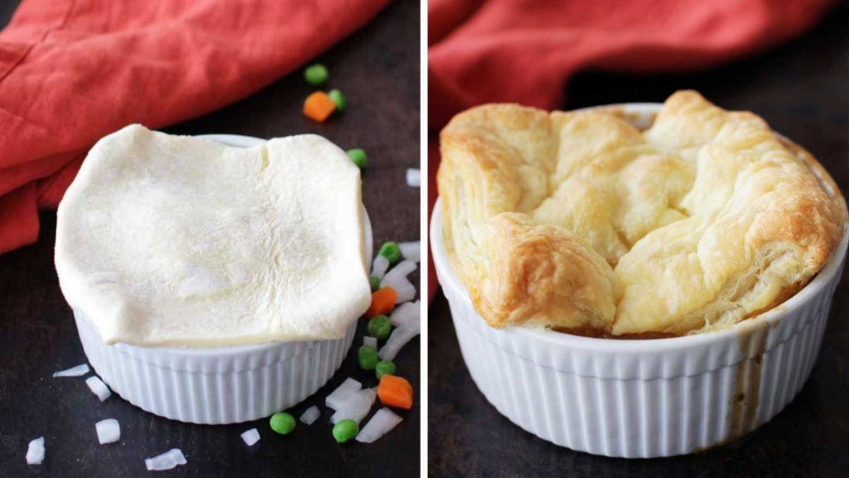 Easy Chicken Pot Pie Recipe Single Serving One Dish Kitchen