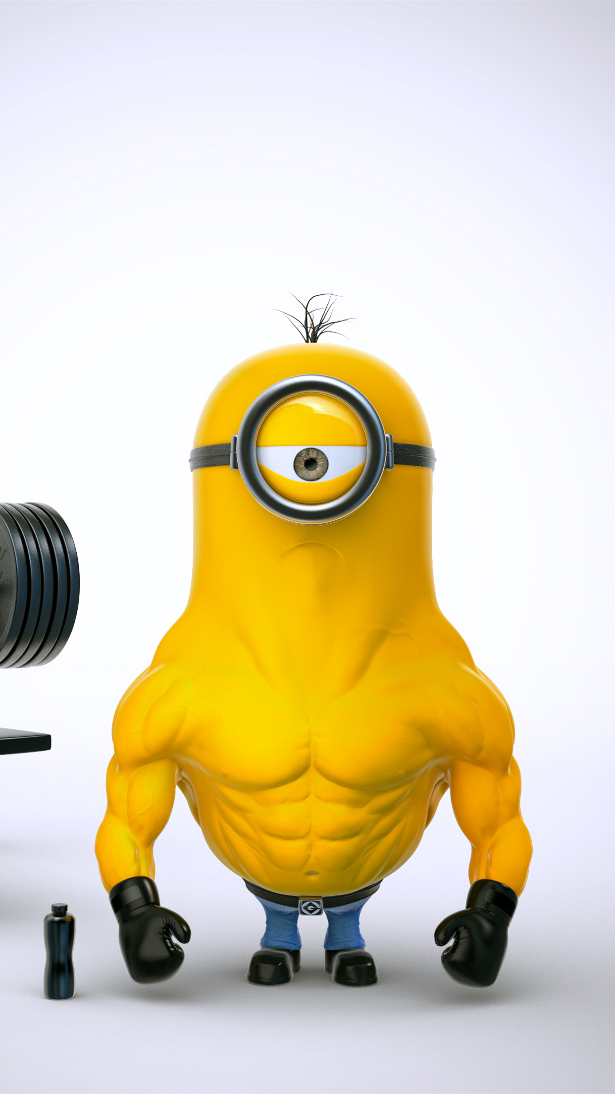 Papier Peint Minions Minion Muscle Wallpaper For Iphone X 8 7 6 Free