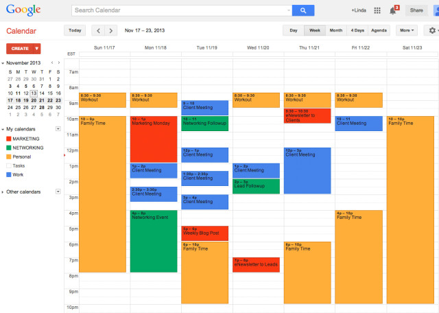 Use Multiple Google Calendars to Manage Your Business  Life