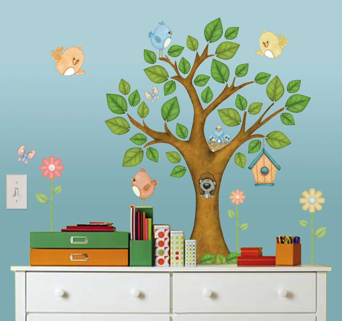 Wandtattoo Kinderzimmer Baum Borders Unlimited Room Fx Wandsticker Baum Ecken Kanten