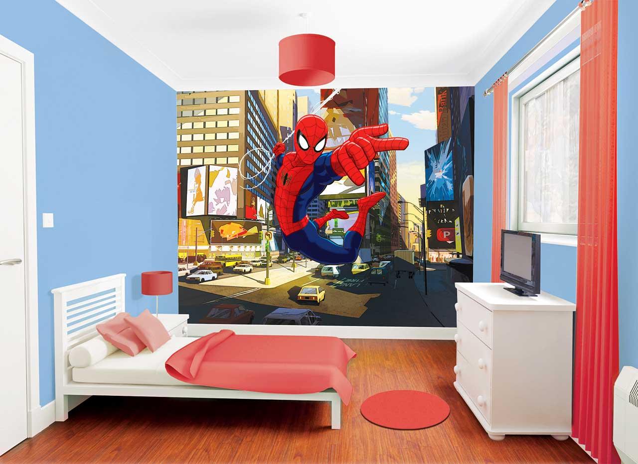 Kinderzimmer Spiderman | Spiderman Kinderzimmer Muster Mobel Von Philips Gunstig Online