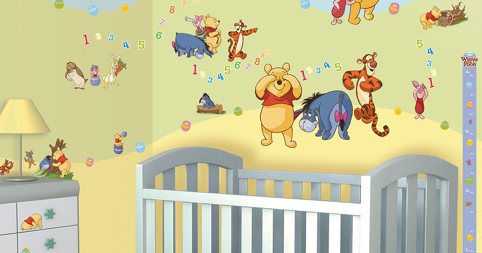 Wandsticker Babyzimmer Walltastic Wandsticker Kinderzimmer Disney Winnie The Pooh
