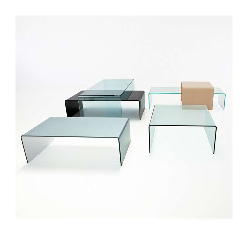 Table Basse Carrée Verre Table Basse Moderne Carrée En Verre - Bridge Sovet® | 4