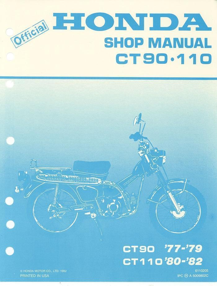 Honda CT110 (1980 - 1982) Workshop manual