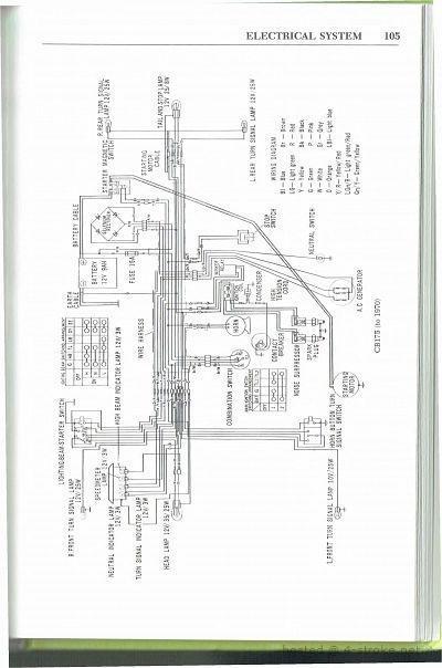 1970 honda cb175 electrical wiring diagram