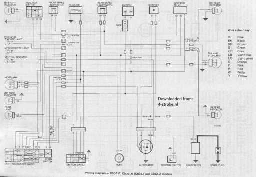 honda c70z wiring diagram