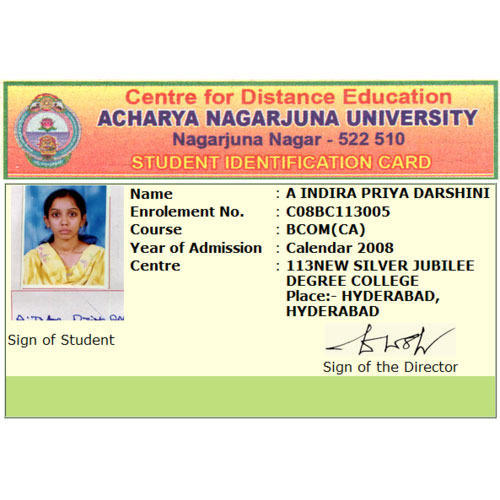 PVC Square Student Identification Card, Rs 30 /piece, Global ID