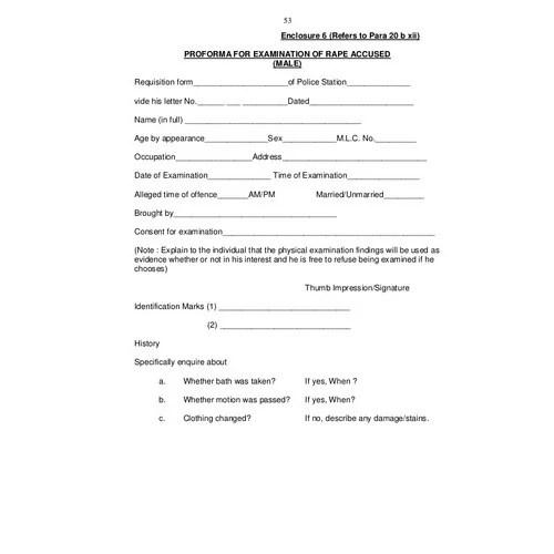 Medico Legal Certificate Book, Medico Legal Certificate Kasba Peth