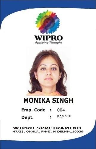 Id Cards at Rs 25 /piece प्लास्टिक का पहचान - sample id cards