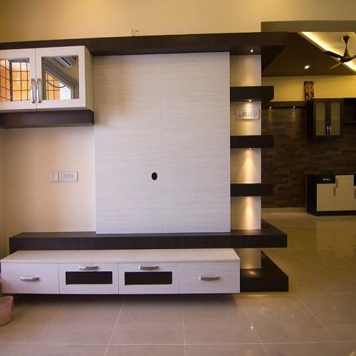 U Shaped Kitchen Design With Island Tv Unit - Wall Mount Tv Unit Manufacturer From Chennai