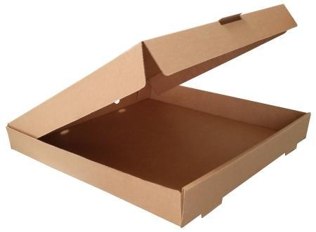 10 inch Brown/White Plain Pizza Box, Pizza Packing Box - Samrat Box