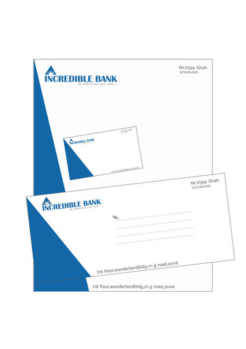 Letterhead, Envelope And Visiting Card Design in Katraj, Pune - letterhead and envelope design