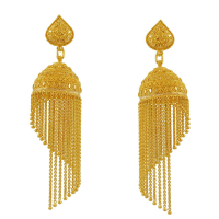 Gold Earring Design New 2017 Latest Saudi Gold Earring