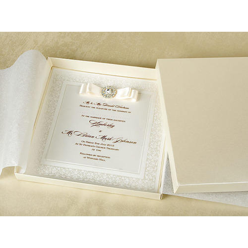 Book Style Luxury Wedding Invitation Card, Rs 40 /piece ID