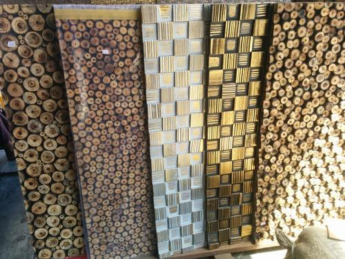 3d Tile Effect Wallpaper Wood Log Wall Panel At Rs 180 Piece Wooden Wall Panel