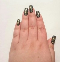 gold nail art design   Tumblr