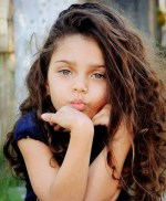 Beautiful Mixed Baby Girl With Long Hair
