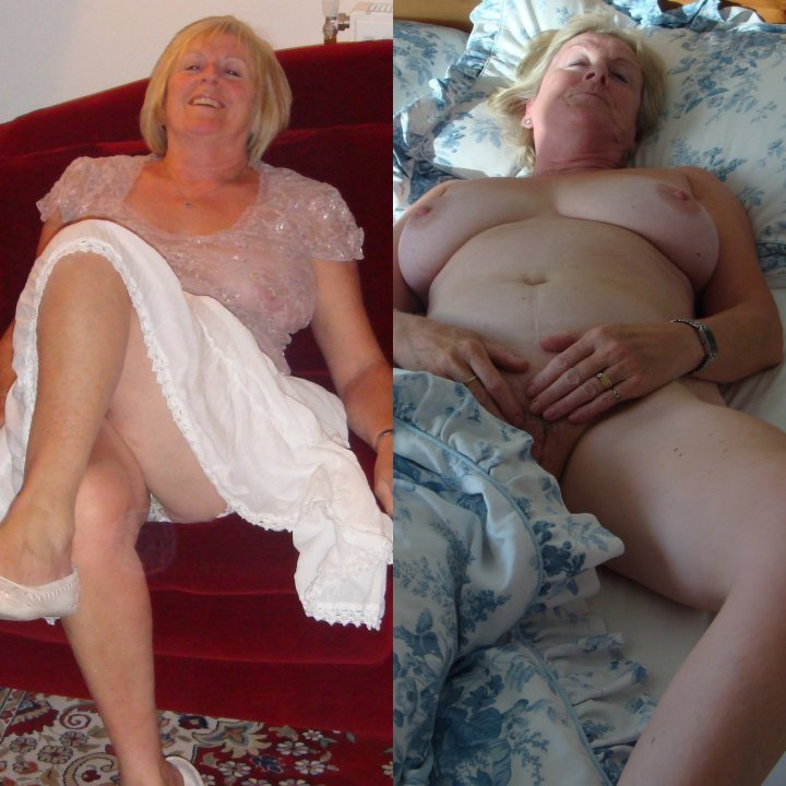 older wives dressed then undressed