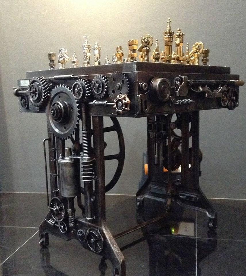 Wallpaper One Piece New World 3d Geek Art Gallery Metalwork Steampunk Chess Set