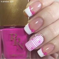 pink and white french manicure | Tumblr