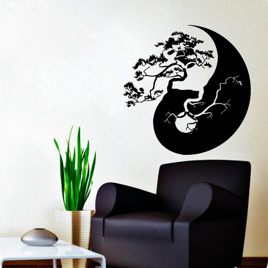 Vinyl stickers  Wall Decals Bonsai Tree Decal Vinyl