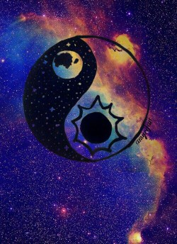 Cute Stitch Wallpaper Quotes Mine Galaxy Yin Yang Quality Sticker Wtfbasic