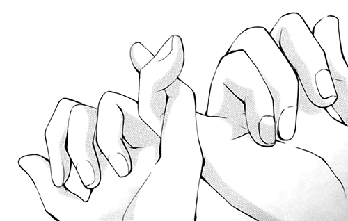 pinky promise drawing