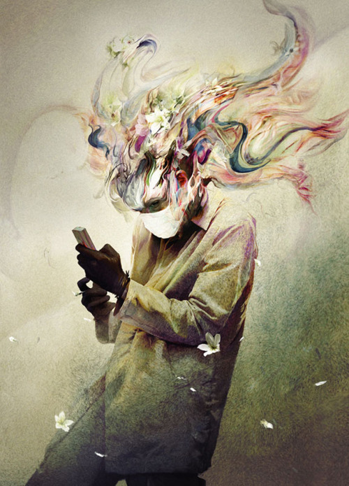 asylum-art-2:The Beautiful Gloomy Mind of Ryohei HaseRyohei Hase is a freelance illustrator and artist from Tokyo, Japan. Ryohei's paintings are often dark and gloomy but at the same time colorful and intriguing.