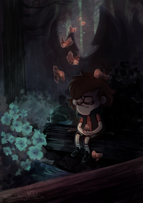 Gravity Falls Summerween Wallpaper Landscape My Art Forest Gravity Falls Dipper Pines
