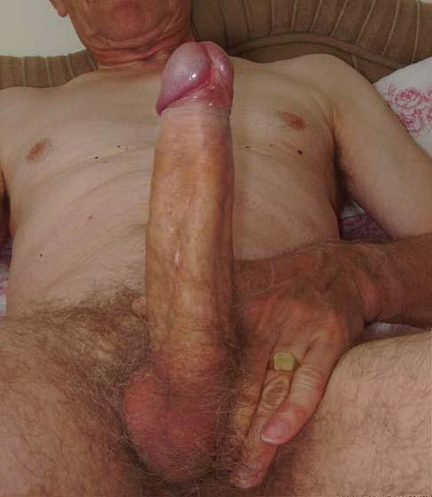 grandpa shows his big cock